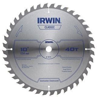 hoja de sierra circular para madera 14 pulg  40dientes irwin