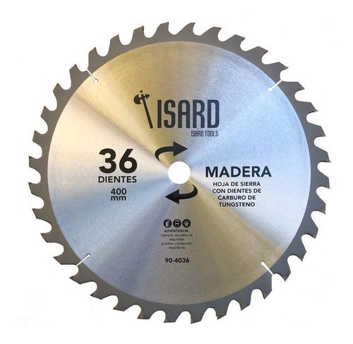 hoja de sierra circular para madera 400 mm 36 dientes isard