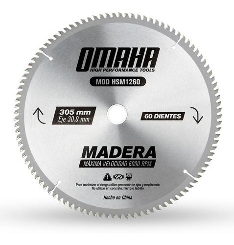 hoja de sierra omaha 305 x 30 mm 60 dientes para madera