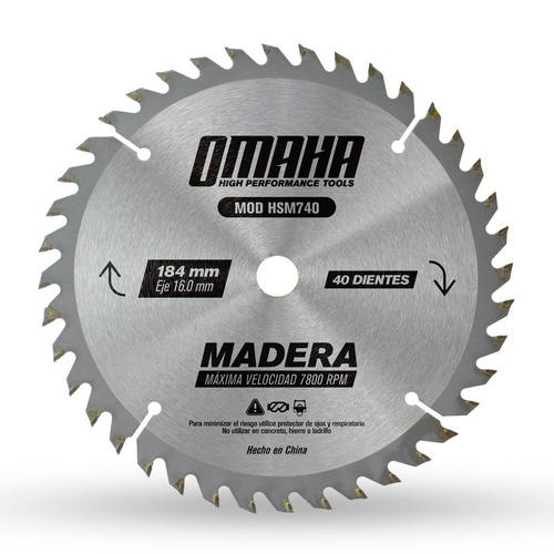 hoja de sierra p/ madera 184 x 16 mm 40 d. omaha