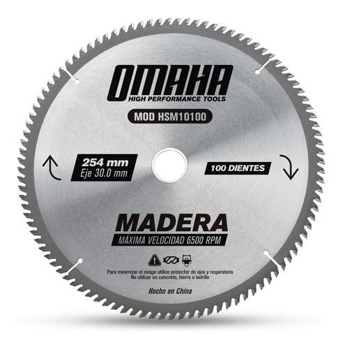 hoja de sierra para madera 254 x 30 mm 100 dientes omaha