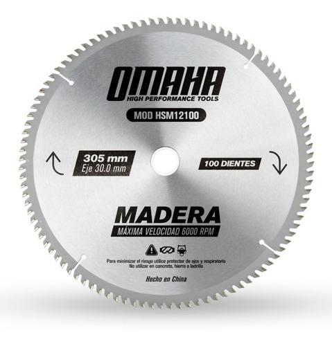 hoja de sierra para madera 305 x 30 mm 100 dientes omaha