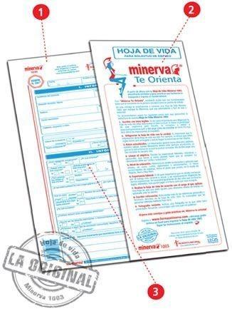 Hoja De Vida Minerva 1003 Original Paquete X 20 Unidades 13 600