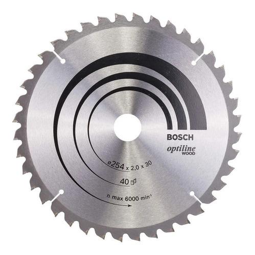hoja disco sierra circular bosch 254mm 40d para madera