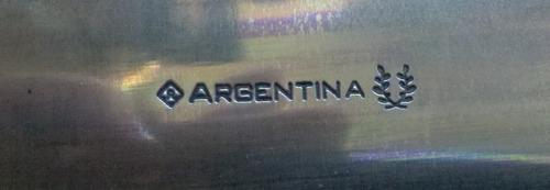 hoja para encabar argentina 12cm carbono + tenedor inox 12cm
