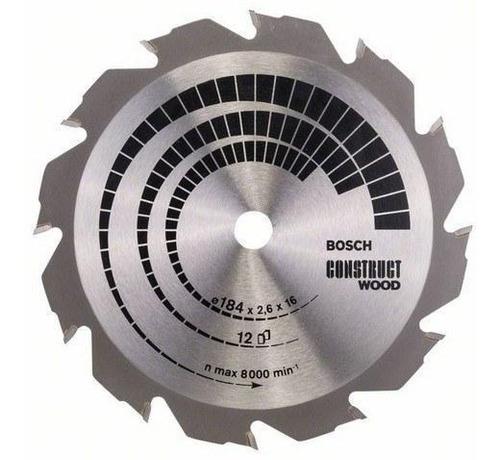 hoja sierra circular bosch 184 mm 7 1/4 madera con clavos 12
