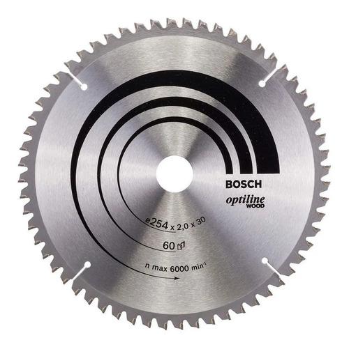 hoja sierra circular bosch 254mmd 60 dientes para madera