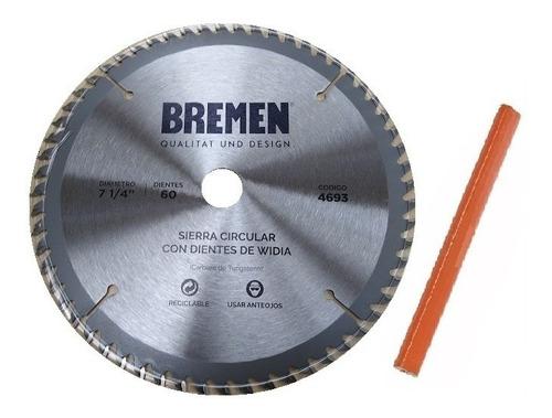 hoja sierra circular bremen® 4693 184mm mdf melamina +regalo