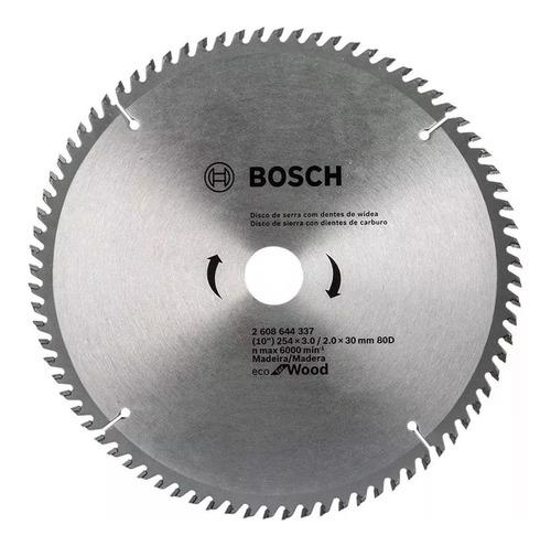 hoja sierra circular madera 254mm 80d bosch ingletadora