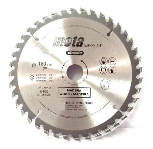 hoja sierra circular mota para madera 180mm 60 dientes