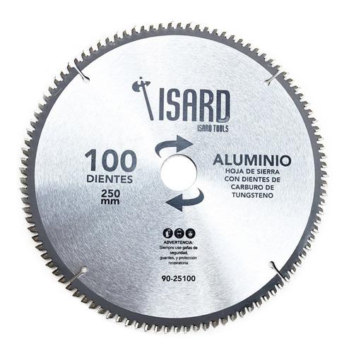 hoja sierra disco circular madera aluminio 250mm 100 dientes