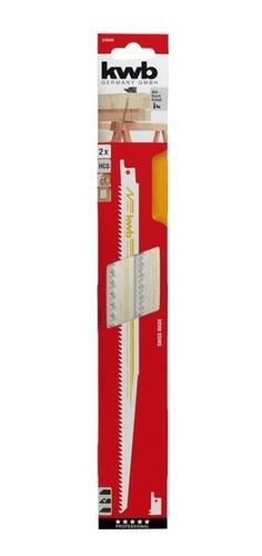 hoja sierra sable 305 mm madera 2 unidades kwb suiza