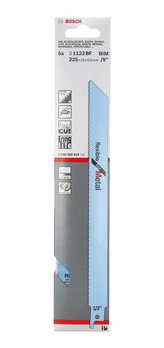 hoja sierra sable bosch azul metales 225 x 19 x 0.9mm.