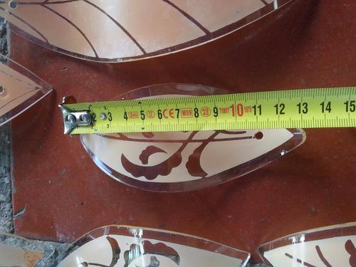 hoja vidrio antigua para repuesto lampara deco precio x c/u