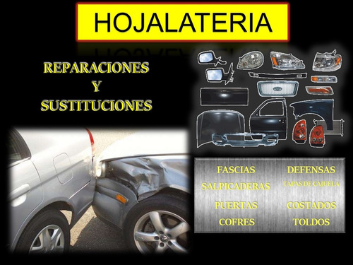 hojalateria, pintura mecanica automotriz