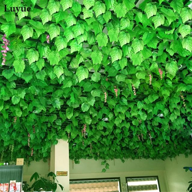 Hojas artificial enredadera parra decoracion jardin living - Enredaderas de interior ...