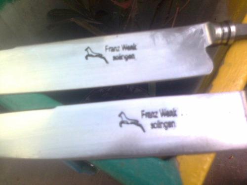 hojas cuchillo encabar verijero criollo franz week increible