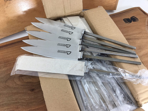 hojas dagger para encabar cuchillos acero inoxidable 14 cm