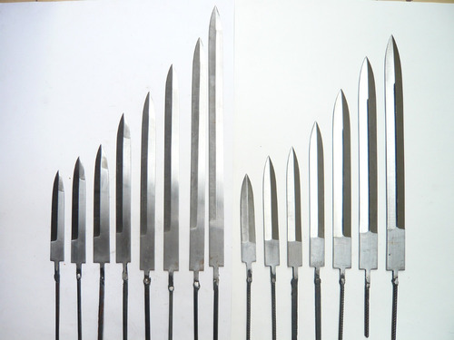 hojas de cuchillos para encabar 10cm