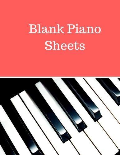 hojas de piano en blanco clave de sol y clave de fa vacía 1