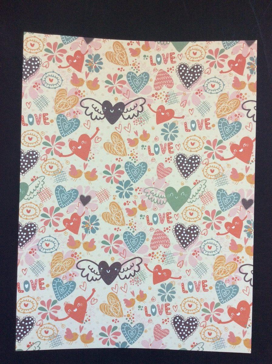 hojas decoradas papel scrapbook tarjetas recuerdos