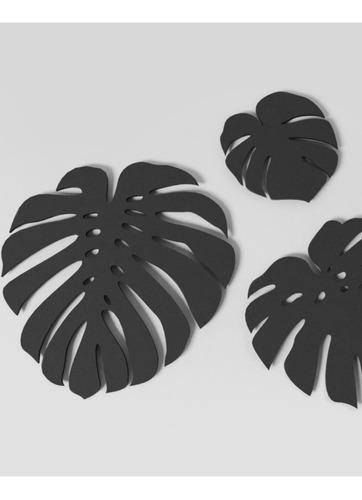 hojas decorativas para pared - 40,60y80cm- madera tratada
