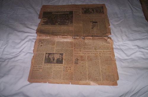 hojas del diario el plata de 1944 con central campeon....