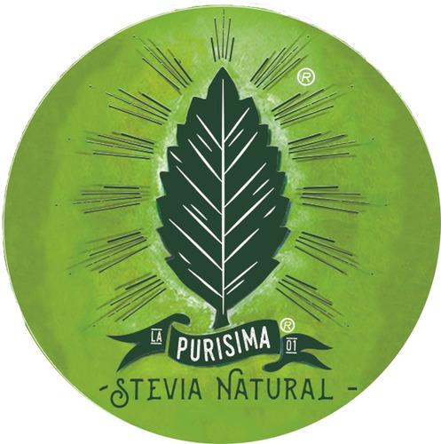 hojas entera de stevia orgánica. bolsa pet con 30g