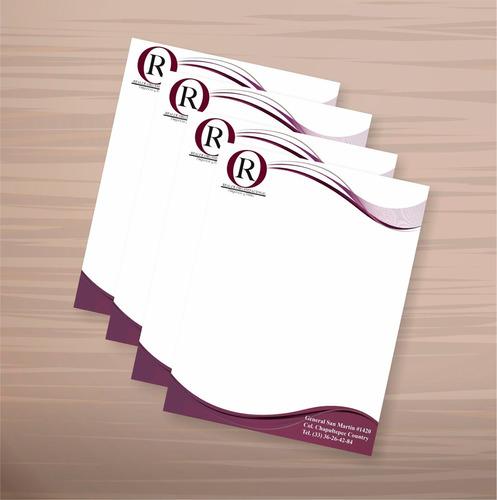 hojas membretada, recipes medico 100unid carta full color