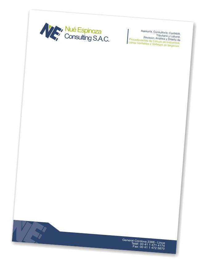 Hojas Membretadas - Diseño Gratis - Incluido Igv - S/. 150,00 en ...