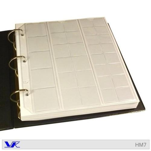 hojas para album de monedas x 10 unidades - marca vk