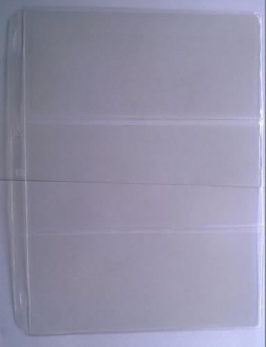 hojas para guardar billetes antiguos colombianos division 3