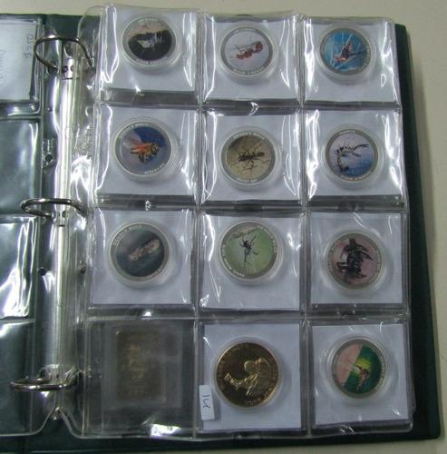 hojas para monedas - medallas - capsulas 10, de 12 espacios