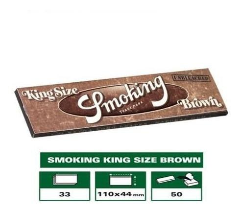 hojilla smoking brown king size 33 uni