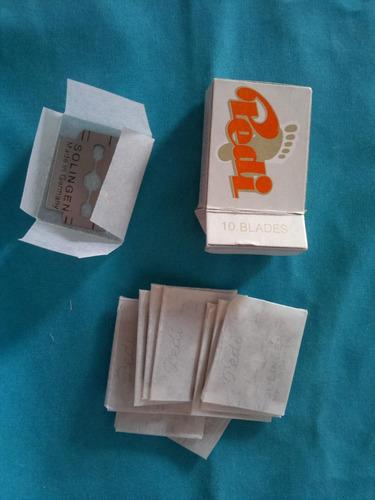 hojillas pedi corta callos solingen caja x 10 unid original