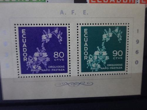 hojita souvenir estampillas 1960 afe ecuador sellos