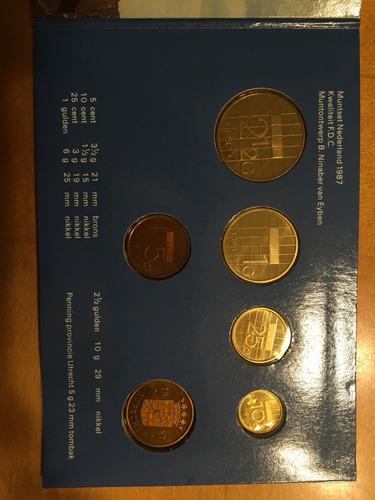 hol-s08 set 5 monedas holanda 1987 unc-bu ayff