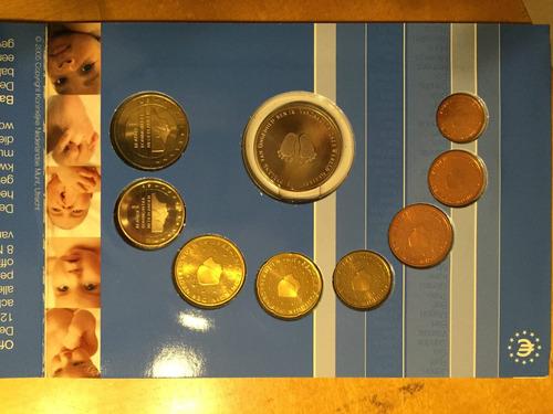 hol-s35 set 8 monedas holanda 2005 euros unc-bu baby ayff
