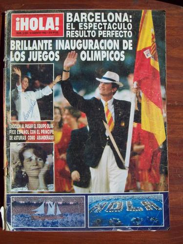 hola 2504 6/8/92 olimpiadas barcelona c salinas de gortari