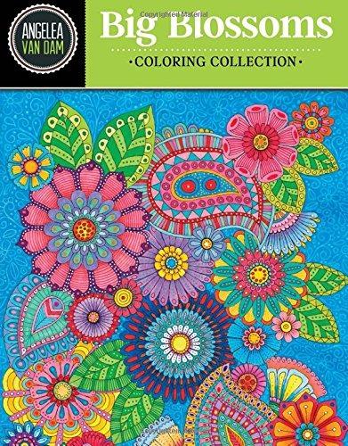 Hola ángel Grandes Flores Hermosas Colección Para Colorear