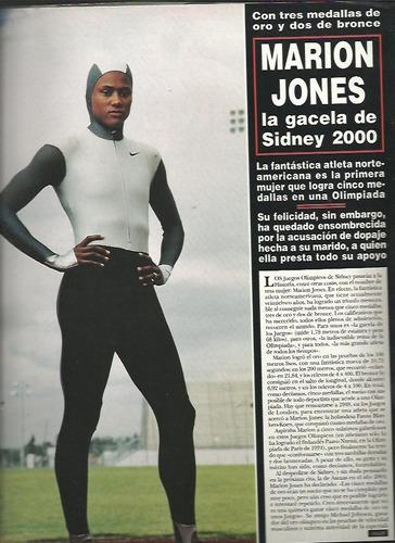hola españa  marion jones 5 medallas olimpicos sidney 2000