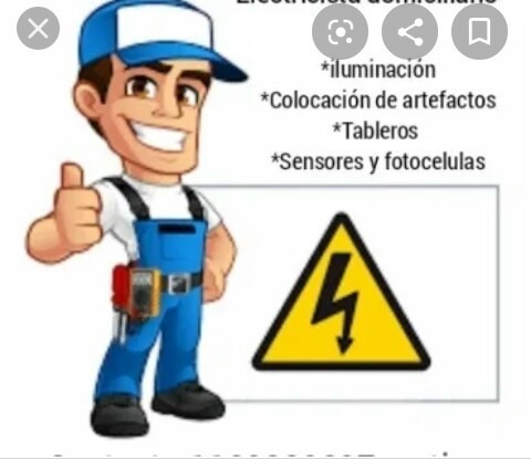hola ofrezco mis servicios de electricista, domicilio