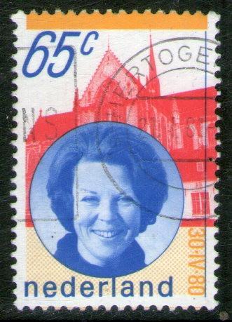 holanda sello usado asunción reina beatriz año 1981