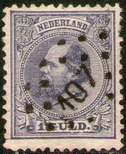 holanda sello usado rey william 3° años 1872-78