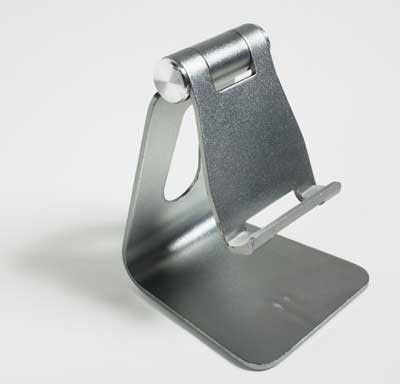 holder dock soporte ajustable celular tablet aluminio ligero