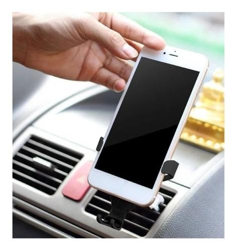 holder gravedad  soporte celular rejilla auto carro 360