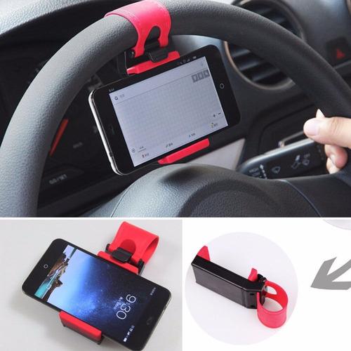 holder para timon de auto sujetador para celular gps envios