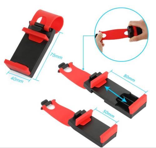 holder porta celular p/ auto en el timón