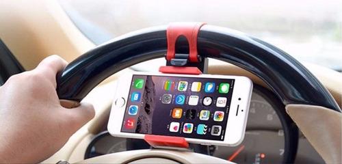 holder / sujetador timón auto  para celular