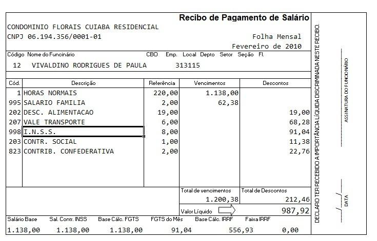 Holerite Contra-cheque Editável Empresa Rh Frete Grátis